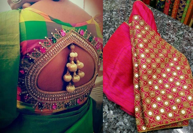 Best Pattu Saree Blouse Designs
